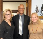 NJP spokesperson Natasha Alexenko with Oakland Chief of Police Howard Jordan and Alameda County District Attorney Nancy O'Malley