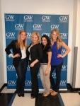 Lauren, Natasha, Doha, and Kristen at George Washington University! April 2012.
