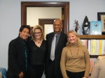 Dr. Steven Lee, Natasha, Chief Howard Jordan of the Oakland Police Department, and Alameda County District Attorney Nancy O'Malley. November 2012