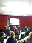 Natasha addresses a group of Sexual Assault Nurse Examiners at Stony Brook University Hospital. October 2012.
