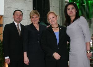 Deputy DA Jason Chin, Natasha Alexenko, DA Nancy O'Malley and Deputy DA Annie Saadi